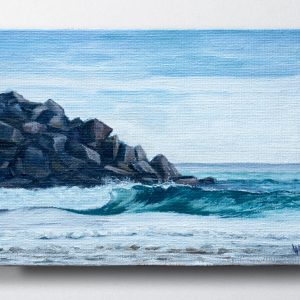 Brunswick Heads, Break Wall Seascape painting by Luke Hallam