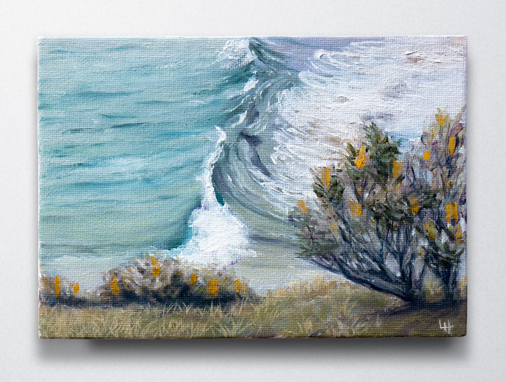 From Above - Seascape painting, 57waves project