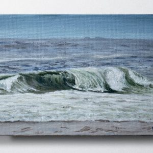 Brunswick Heads shore break oil painting